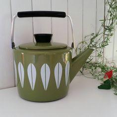 Skandinavisches Design Cathrineholm Norwegen. Diese Emailwaren-Kaffee / Teekanne…