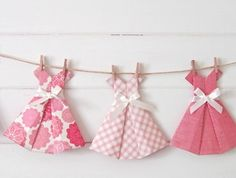 Vintage Paper Dress Bunting ~ 'My Vintage Romance' by Paper, Scissors, Frock   Felt