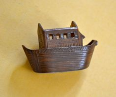 Noah's Ark Figurine Painted Metalm Vintage Figurine by ESTATENOW, $5.50