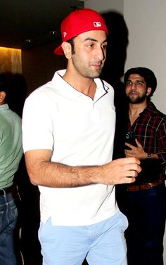 Ranbir Kapoor at the special screening of 'Youngistaan' #Style #Bollywood #Fashion #Handsome