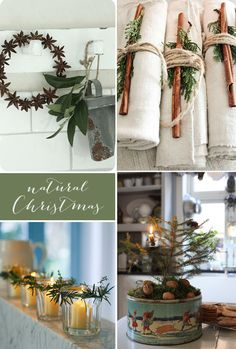 Patchwork Harmony blog: A rustic, natural Christmas table