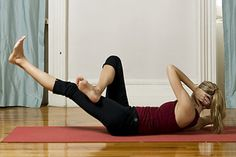 7. Belly crunch and half boat  http://www.womenshealthmag.com/fitness/yoga-abs-workout/7-belly-crunch-and-half-boat