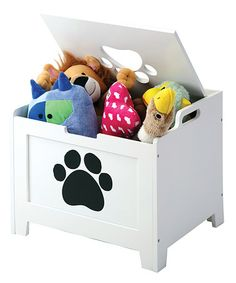 Take a look at this White Paw Pet Storage Box by Etna Products on #zulily today!