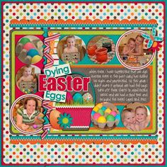 Scrapbook page layout Easter