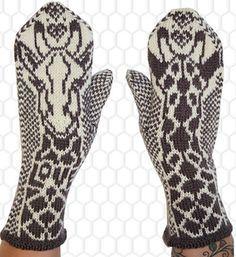 Love! Giraffe cowl and mittens pattern by Jorid Linvik