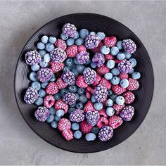 food and berries image on We Heart It