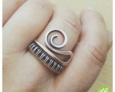 Thick copper band ring/wire ring/minimalistic by FromRONIKwithLove