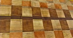Hand crafted Walut,Beech and Poplar end grain cutting board