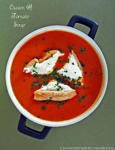 Cream of Tomato Soup by Cinnamon Spice and Everything Nice