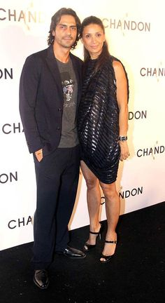 Arjun Rampal with wife Mehr Jesia at the launch of Chandon wine in Mumbai. #Bollywood #Fashion #Style #Beauty