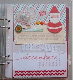 Beautiful Sparkly Vintage-ish December Daily Album
