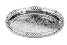 Silver-Plated Gallery Tray w/ Ball Feet. One kings lane.