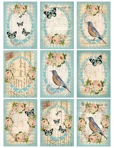 Vintage printable birds   Trendvee