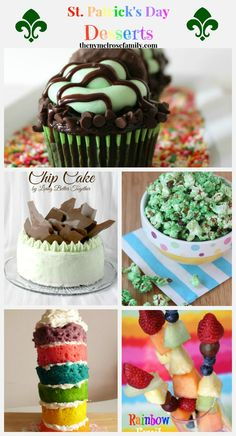 St. Patrick's Day Desserts www.thenymelrosefamily.com #stpatricksday #desserts