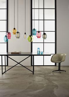 Jeremy Pyles's Crystalline Series pendants are handblown in Beacon, New York.