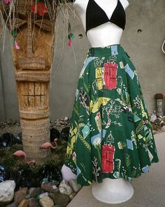 Mexican circle skirt--pretty sure it's vintage, but not sure.  Definitely has the look!