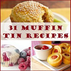 31 Muffin Tin Recipes! I love ALL of these! Such fun ideas for kids too, great single serving foods, and perfect for on the go! ~ Savebiglivebetter.com