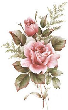 XL American Beauty Rose Shabby Waterslide Decals Furniture Size   eBay