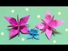 【折り紙】花の簡単で可愛い折り方【音声解説で分かりやすい!】1枚で作れる子供向けの折り紙 - YouTube