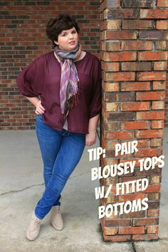 Hems for Her Trendy Plus Size Fashion for Women -- As a fat chick myself, I think this looks terrible.