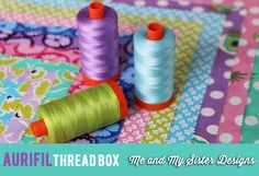 Barb and Mary of Me and My Sister Designs went to Fat Quarter Shop to talk about their two NEW Aurifil thread collections. Barb and Mary created two custom-colored threads that are exclusive to these boxes.   To see and hear more about this special collection please visit http://fatquartershop.blogspot.com/2014/07/aurifil-thread-box-with-me-and-my.html