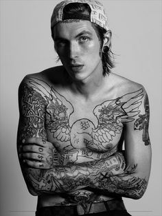 Most people can't pull off a facial tattoo but this man........