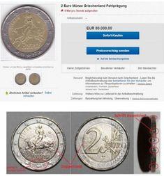 Χαμός με το 2 ευρώ: Ποιο κέρμα κοστίζει 80.000€ και τι απεικονίζει – Makeleio.gr Euro Coins, Personalized Items, Greece, Reading