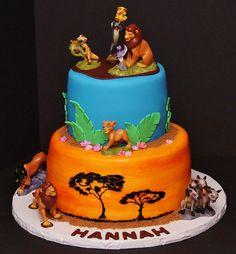 Lion King Cake by Cecy Huezo .  www.delightfulcakesbycecy.com