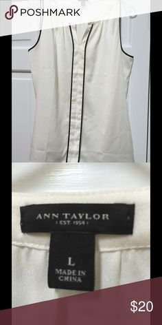 Ann Taylor shell Great blouse to wear with a suit or jeans. Lays just right. Great material. Ann Taylor Tops Blouses