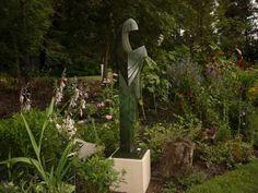 #Bronze #sculpture by #sculptor Brett Davis titled: 'Harmony (Bronze abstract/Modern Robed Nun Standing statues/sculptures)'. #BrettDavis