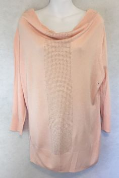 965a9ebc51 New York and Company Light Pink embellished sweater Large