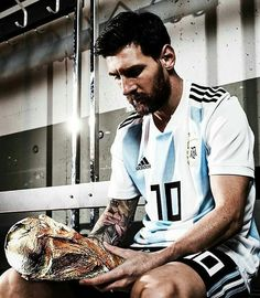 "Leo Messi: ""I have won all the most important tournaments but I am ambitious to the end. I would not like to retire from active football without being a world champion with my country. Messi Argentina 2018, Argentina World Cup 2018, Argentina Football, Lionel Messi, Messi 10, Troll Football, Football Memes, Watch Football, Good Soccer Players"