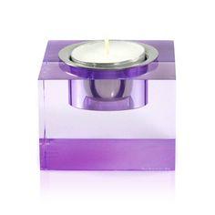 tea light candle holder, purple by block | notonthehighstreet.com