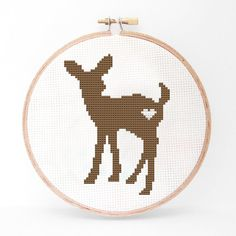40% OFF EVERYTHING Deer Silhouette Cross Stitch PDF by kattuna