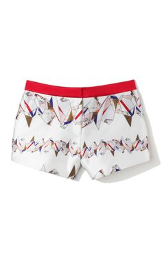 Printed Silk Track Shorts by Prabal Gurung for Preorder on Moda Operandi