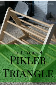 DIY Pikler Triangle - Montessori - Kids at Play - Play Room - Toys - Toddler Activities - Child Development - Gross Motor Skills - Infants - Indoor Play Diy Montessori Toys, Montessori Toddler, Toddler Play, Baby Play, Montessori Education, Infant Activities, Activities For Kids, Wood Toys, Diy Toys