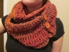 Oversized Cowl with Buttons Women's Winter by Crochetandmore, $35.00