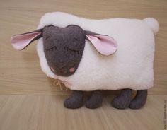 """Купить Подушка -игрушка """"Спящая овечка"""".Подарок на 8 марта. - овечка, подушка игрушка"""