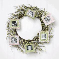 photo wreath