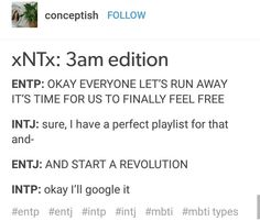 I can see this happening tbh Intp Personality, Myers Briggs Personality Types, Extroverted Introvert, Entp, Mbti Charts, Intj Humor, Intj T, Gemini Life, Story Of My Life