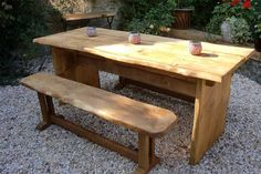 This is a unique commissioned piece. If you would like something similar then please see our Services page. Outdoor Dining Set, Dining Bench, Outdoor Furniture Sets, Solid Oak, Unique, Table, Home Decor, Decoration Home, Table Bench