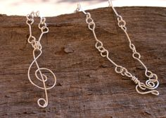 Handmade Silver Plated Wire Wrapped Music by 2012BellaVida on Etsy