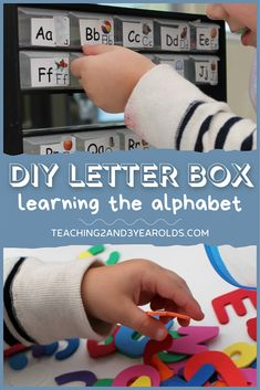 Preschoolers can learn the alphabet with their own simple ABC box! Easy to make for home or the classroom. Helps develop letter recognition for early literacy. #preschool #alphabet #letters #DIY #classroom #teachers #teaching2and3yearolds Diy Letter Boxes, Diy Letters, Alphabet Letters, Learning The Alphabet, Preschool Alphabet, Letter Recognition, Early Literacy, Lettering, Pre School