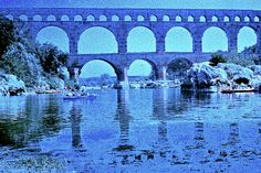 japanese vacationism #france #pontdugard #revolog Pont Du Gard, Marina Bay Sands, Japanese, France, Film, Day, Pictures, Travel, Bridges
