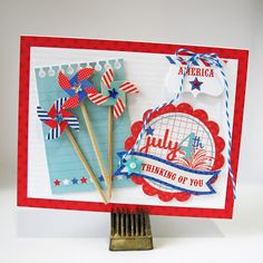 Thinking of You by Kathy Martin for #Doodlebug using Stars & Stripes