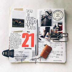 Travel journal - scrapbook style