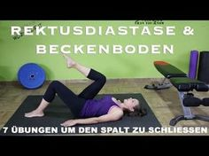 Rektusdiastase & Beckenboden / 7 Übungen um den Spalt zu schließen / Beckenbodentraining - YouTube