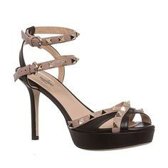 RARE Valentino Rockstud 39 39.5 SOLD OUT IN STORES!! Worn twice excellent condition- 100% Authentic comes with original box, and Nordstrom tag on outside, as well as authenticity card and replacement heel    * Color: Black and blush * Style: Pump * Material: Leather * Toe shape: Almond * Heel height/type: 4-inch covered heel * Platform height: 1 inch * Width: Medium * Lining: Leather * Sole: Leather * Footbed: Padded * Made in Italy Valentino Shoes Heels