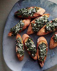 Creamed Kale Toasts Recipe on Food
