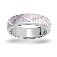 opal male rings | this sterling silver inlaid opal ring will zigzag its way